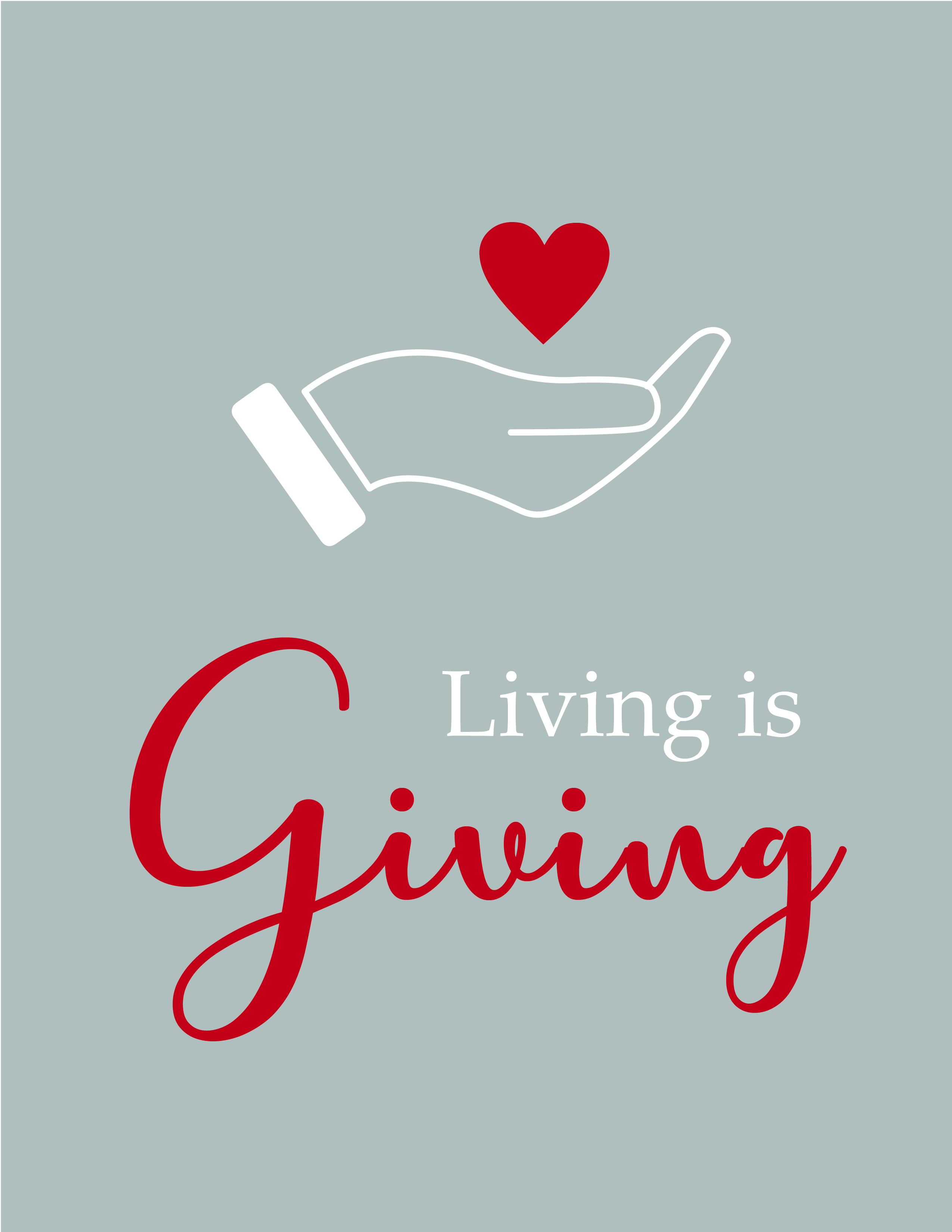 Living is Giving